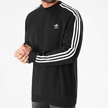 Adidas Originals - Sweat Crewneck A Bandes 3 Stripes GN3487 Noir
