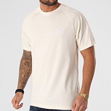 Adidas Originals - Tee Shirt A Bandes 3 Stripes GN4187 Ecru