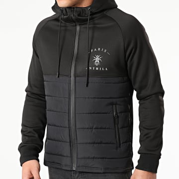 Anthill - Veste Zippée Capuche Chest Logo Noir