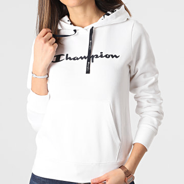 Champion - Sweat Capuche Femme 112580 Blanc