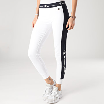 Champion - Legging Femme A Bande 112597 Blanc