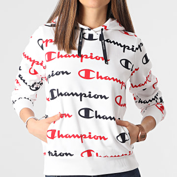 Champion - Sweat Capuche Femme 112617 Blanc