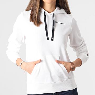 Champion - Sweat Capuche Femme 114394 Blanc