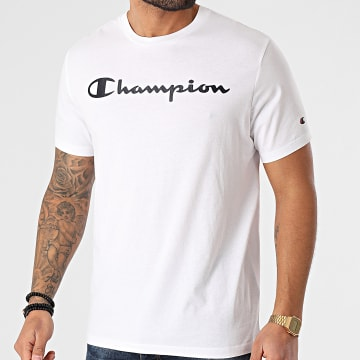 Champion - Tee Shirt 214142 Blanc