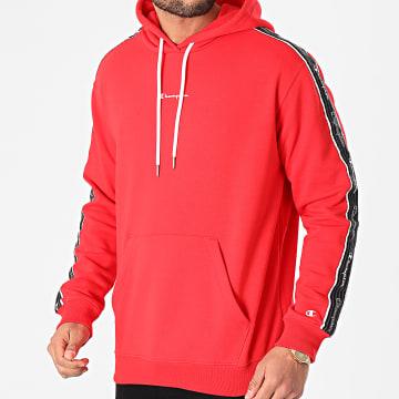 Champion - Sweat Capuche A Bandes 214225 Rouge