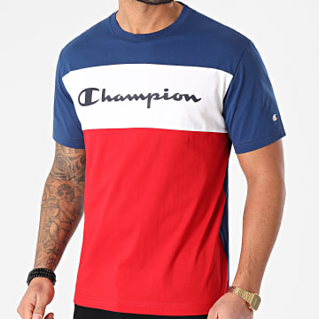 Champion - Tee Shirt 216197 Bleu Marine Rouge Blanc