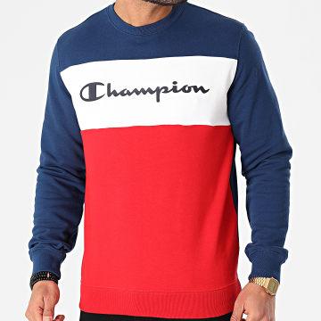 Champion - Sweat Crewneck 216198 Rouge Blanc Bleu Marine