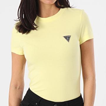 Guess - Tee Shirt Femme W1RI04-J1311 Jaune