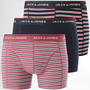 Jack And Jones - Lot De 3 Boxers Y/D Rose Bleu Marine