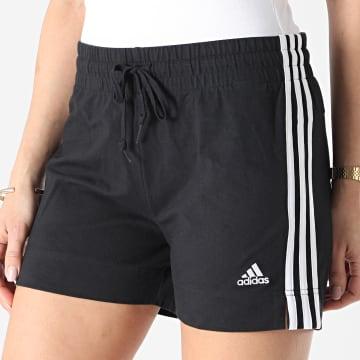 Adidas Performance - Short Jogging Femme A Bandes GM5523 Noir
