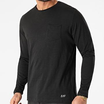 Blend - Tee Shirt Poche Manches Longues 20703060 Noir Chiné