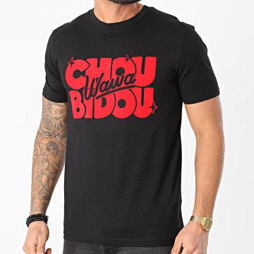 Booshra Et Mamad - Tee Shirt Choubidouwawa Noir Rouge