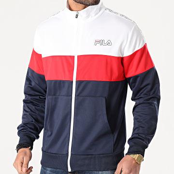 Fila - Veste Zippée A Bandes Jairus 683258 Bleu Marine Blanc Rouge