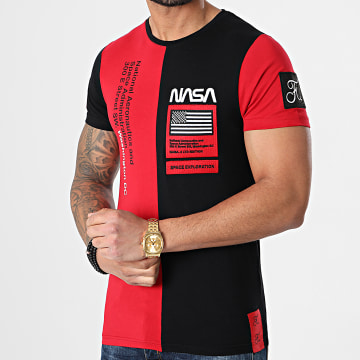Final Club - Tee Shirt Nasa Half Colors Limited Edition Noir Rouge