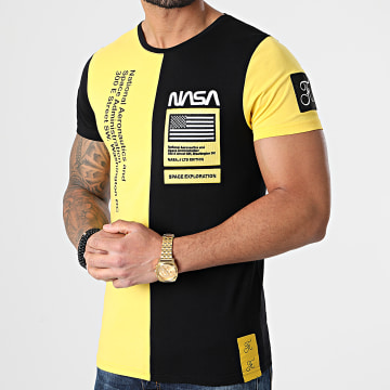 Final Club - Tee Shirt Nasa Half Colors Limited Edition Noir Jaune