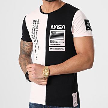 Final Club - Tee Shirt Nasa Half Colors Limited Edition Noir Rose Pale