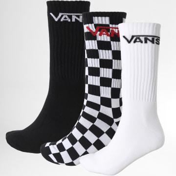 Vans - Lot De 3 Paires De Chaussettes 00XSE95Y1 Noir Blanc