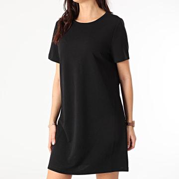 Only - Robe Tee Shirt Femme Tina Noir