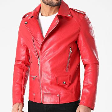 Uniplay - Veste Biker T88591 Rouge