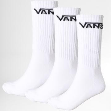 Vans - Lot De 3 Paires De Chaussettes XSE Blanc