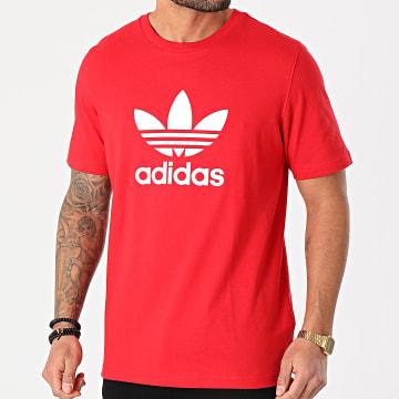 Adidas Originals - Tee Shirt Trefoil GN3468 Rouge
