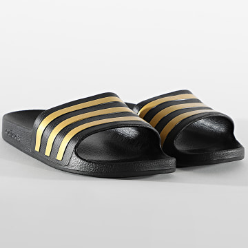 adidas - Claquettes Adilette Aqua EG1758 Noir Doré