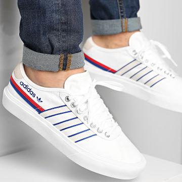 Adidas Originals - Baskets Delpala FV0639 Footwear White Scarlet Royal Blue