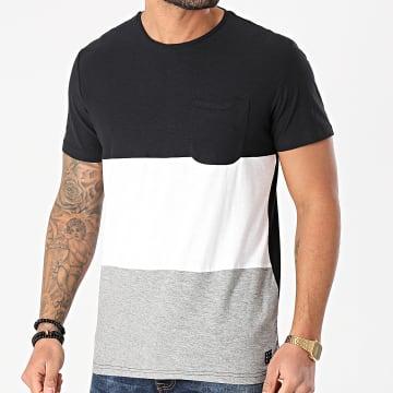 Blend - Tee Shirt Poche 20711695 Noir Gris Chiné