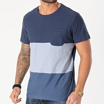 Blend - Tee Shirt Poche 20711695 Bleu Marine Chiné
