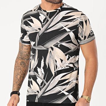 Blend - Tee Shirt Floral 20711713 Noir Beige
