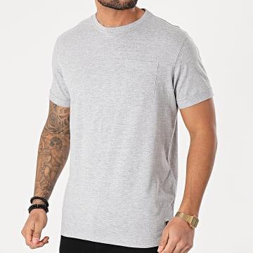 Blend - Tee Shirt Poche 20711715 Gris Chiné