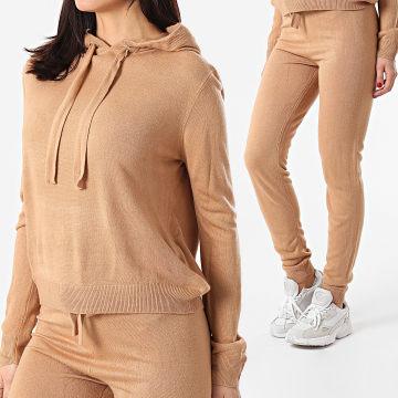 Brave Soul - Ensemble Pull Pantalon Femme Lambada Camel