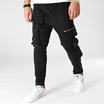 Brave Soul - Pantalon Cargo Leeds Noir