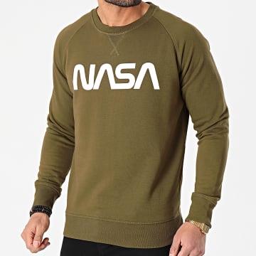 NASA - Sweat Crewneck Worm Logo Vert Kaki