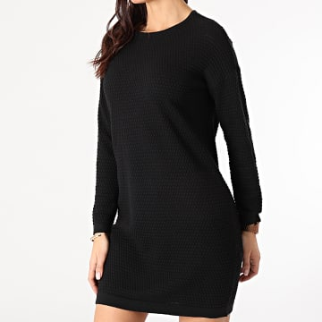 Only - Robe Pull Femme Manches Longues Barbarini Life Noir