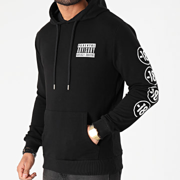 Parental Advisory - Sweat Capuche Pegi 18 Sleeve Noir