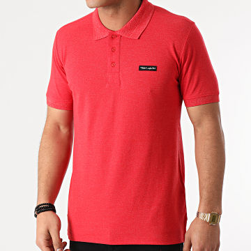 Teddy Smith - Polo Manches Courtes Nark 11314792D Rouge Chiné