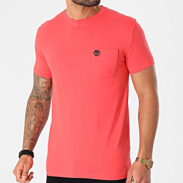 Timberland - Tee Shirt A Poche A2CQY Rouge