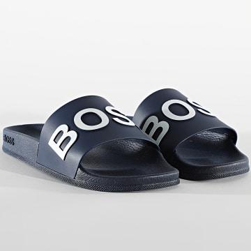 BOSS - Claquettes Bay Slide 50425152 Dark Blue