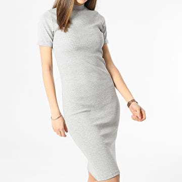 Brave Soul - Robe Pull Femme Chiomia Gris Chiné