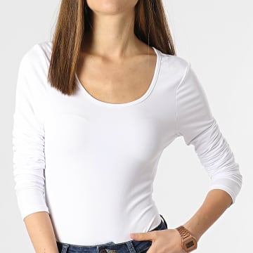 Brave Soul - Body Manches Longues Femme Jada Blanc