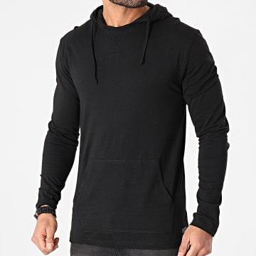 Brave Soul - Tee Shirt Manches Longues A Capuche Morris Noir