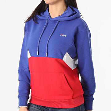 Fila - Sweat Capuche Tricolore Amya 688483 Bleu Roi Rouge Blanc