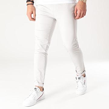 Mackten - Pantalon Chino MKP138 Gris Clair