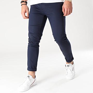 Mackten - Pantalon Chino MKP132 Bleu Marine