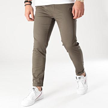 Mackten - Pantalon Chino MKP134 Vert Kaki