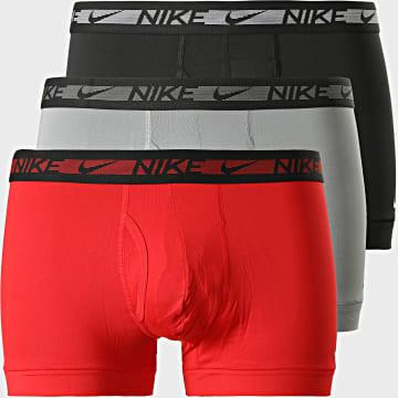 Nike - Lot De 3 Boxers Flex Micro KE1029 Noir Gris Rouge