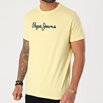 Pepe Jeans - Tee Shirt Eggo Jaune