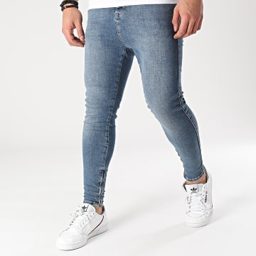 SikSilk - Jean Skinny Drop Crotch Denim 19355 Bleu Denim