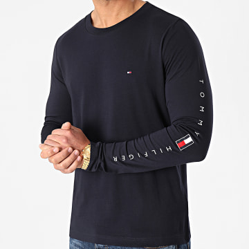 Tommy Hilfiger - Tee Shirt Manches Longues Essential Tommy 7677 Bleu Marine